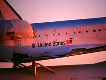 Space Shuttle Endeavour Sunrise